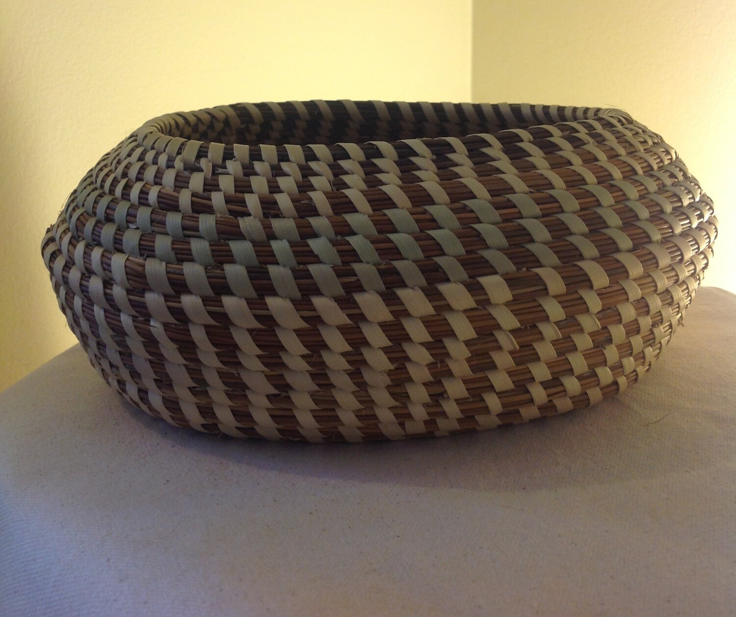 Egg Shape SweetGrass Basket