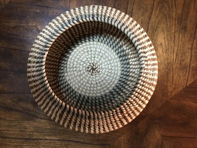 Contemporary Navajo Styled Sweetgrass Bowl