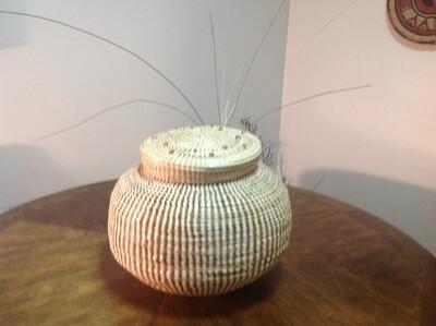 Ginger Jar SweetGrass Basket