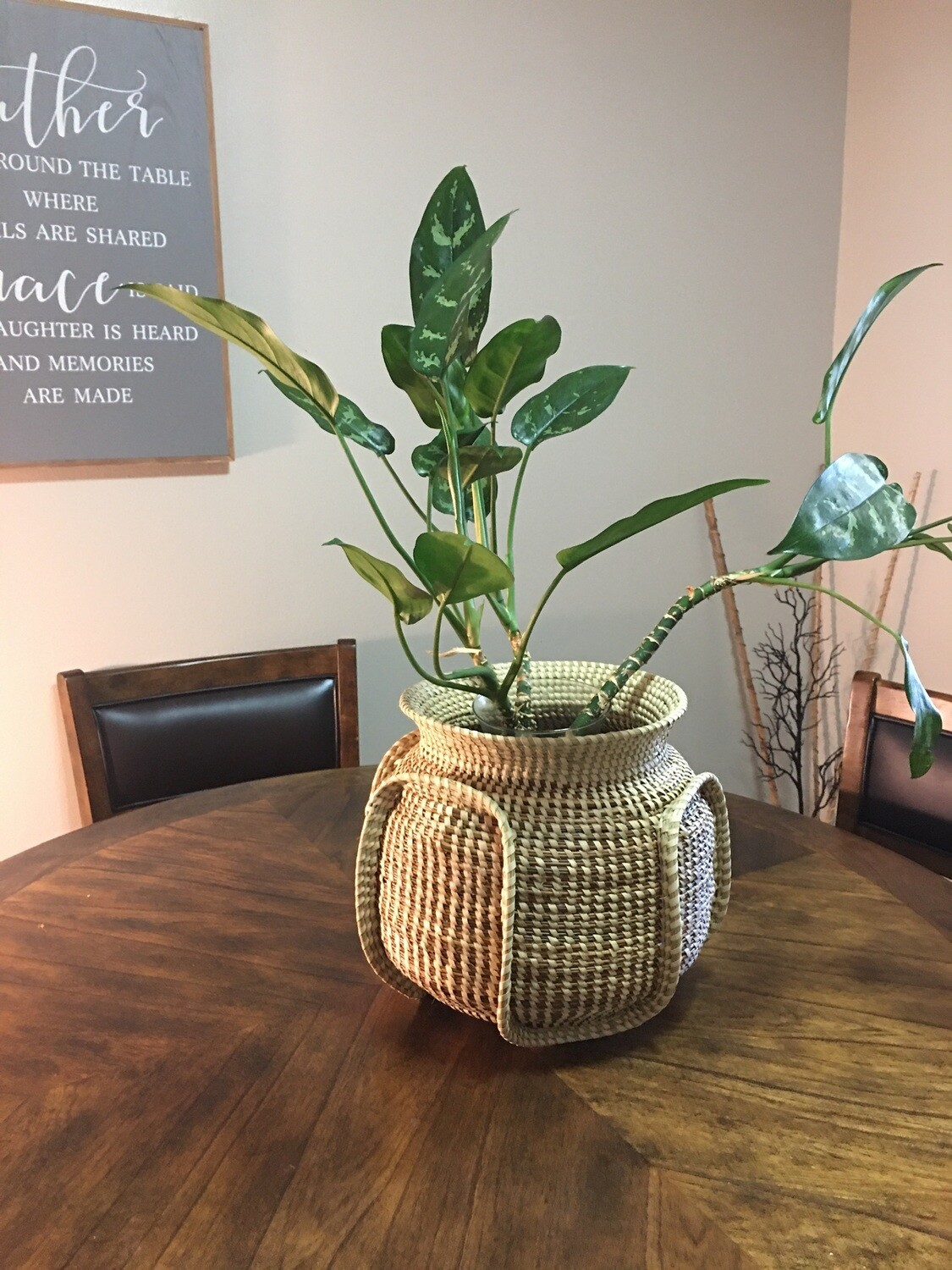 Sweetgrass Ribbed Bowl Vase
