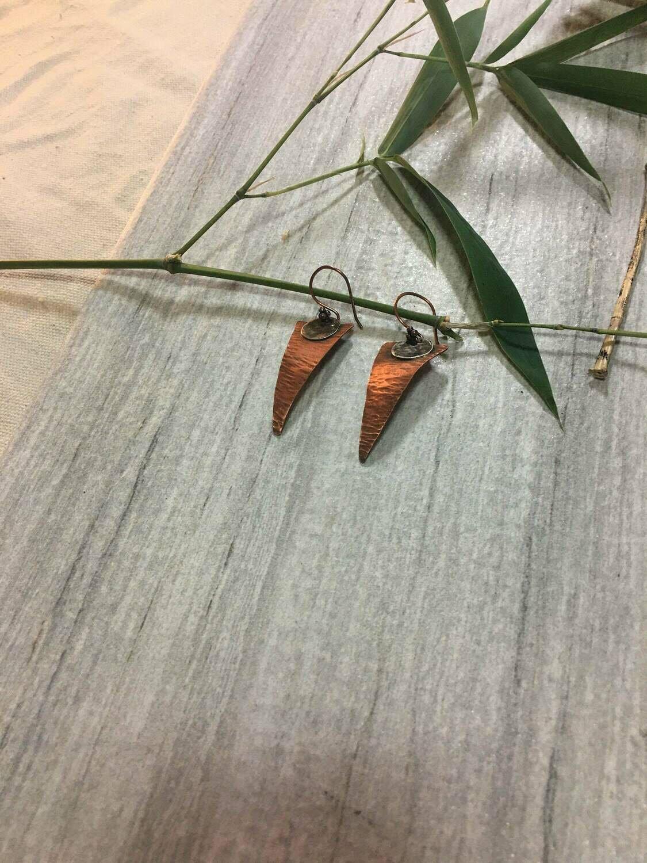 Multi-color Hammered Copper Triangles