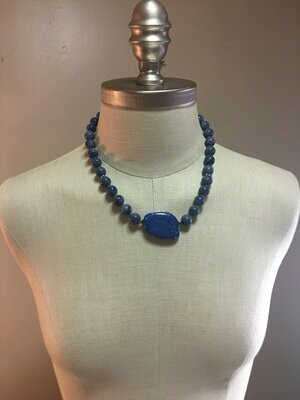 Lapis Lazuli and Pyrite beaded necklace