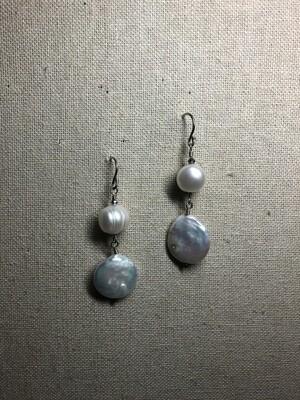 Chunky Baroque Freshwater Pearls Earrings.