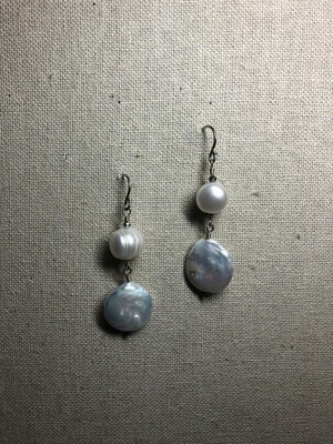 Baroque freshwater Pearls statement Earrings