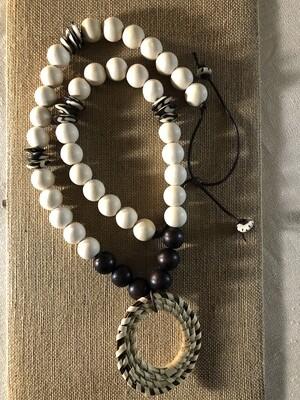 Circle Unbroken Sweet Grass Pendant Necklace