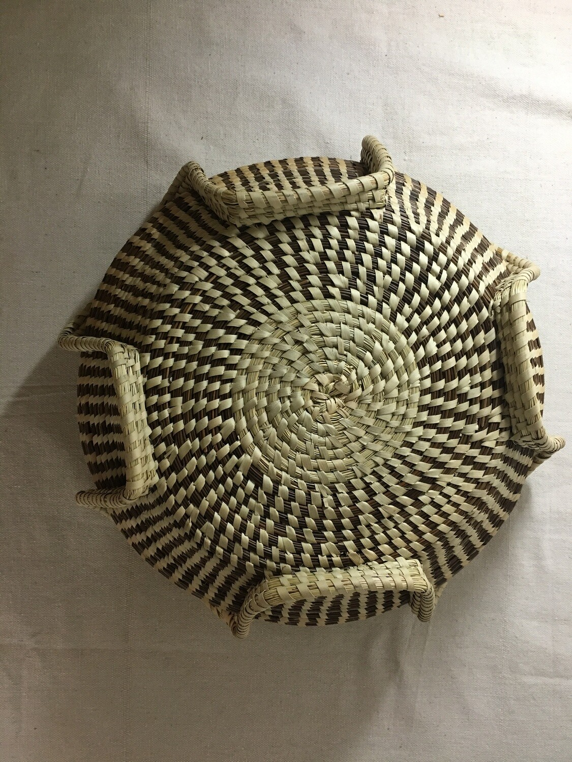 Ribbed vase Sweetgrass Basket