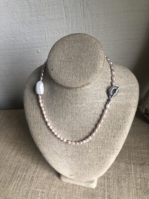 Pink and Grey freshwater pearls