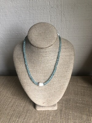 Aquamarine and Freshwater Pearl
