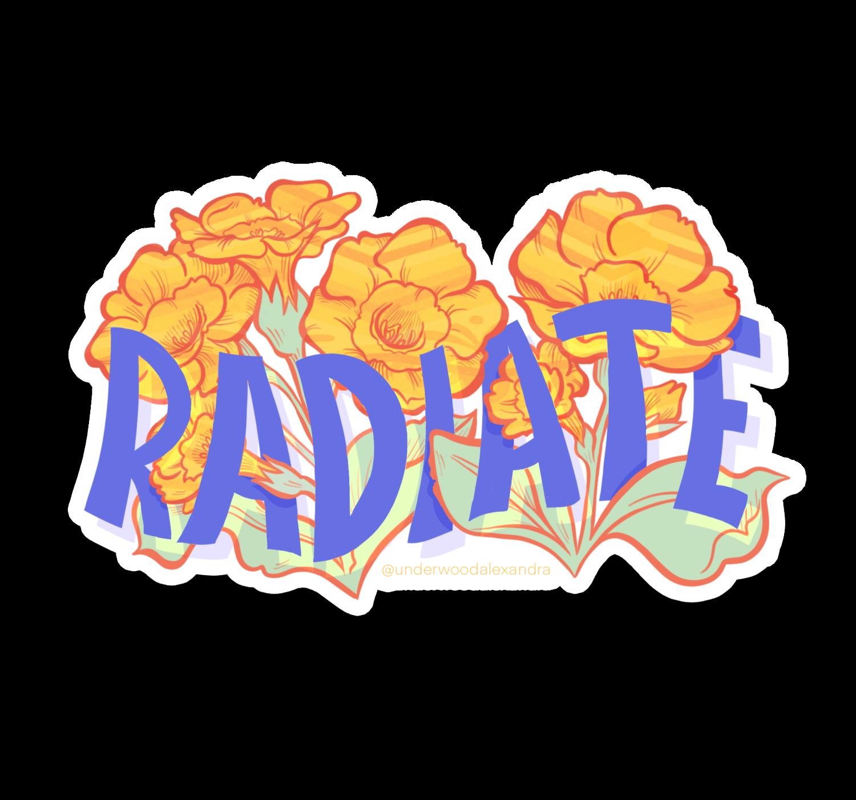 Radiate Sticker