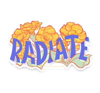 Radiate Sticker