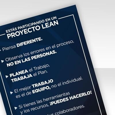 Infografía · Esta Úd en un proyecto Lean