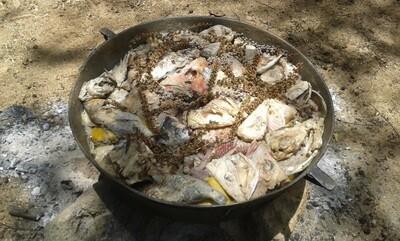 Preparación de Comida típica isleña