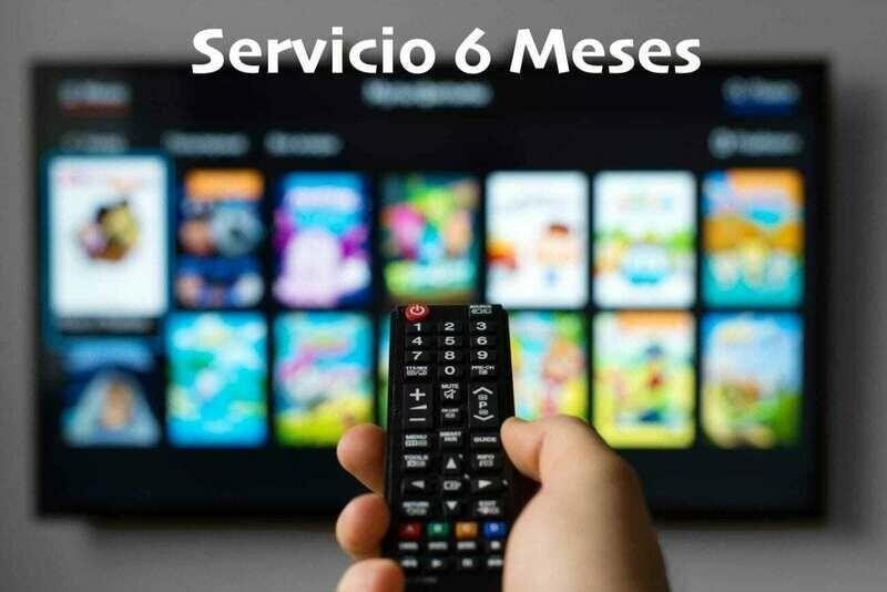 Suscripción servicio TV 6 meses
