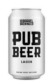10 Barrel - Pub Beer- 6 pack of 12 oz cans