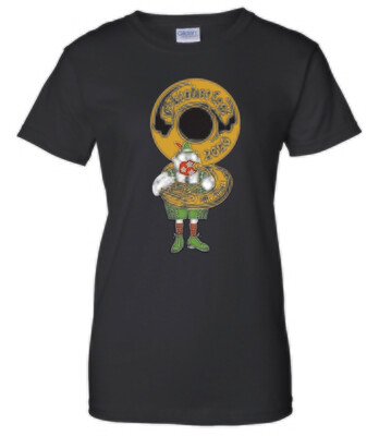 T-shirt, Women's - black with masked Papa Oompah
