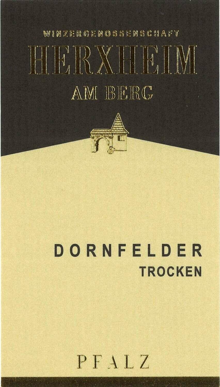 Dornfelder Trocken/Dry from Herxheim Winery in Germany- 750 ml bottle