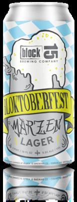 Block 15 - Blocktoberfest Oktoberfest Marzen - 4 pack of 16 oz cans