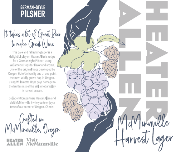 Heater Allen - Harvest Lager - 4 pack of 16 oz cans