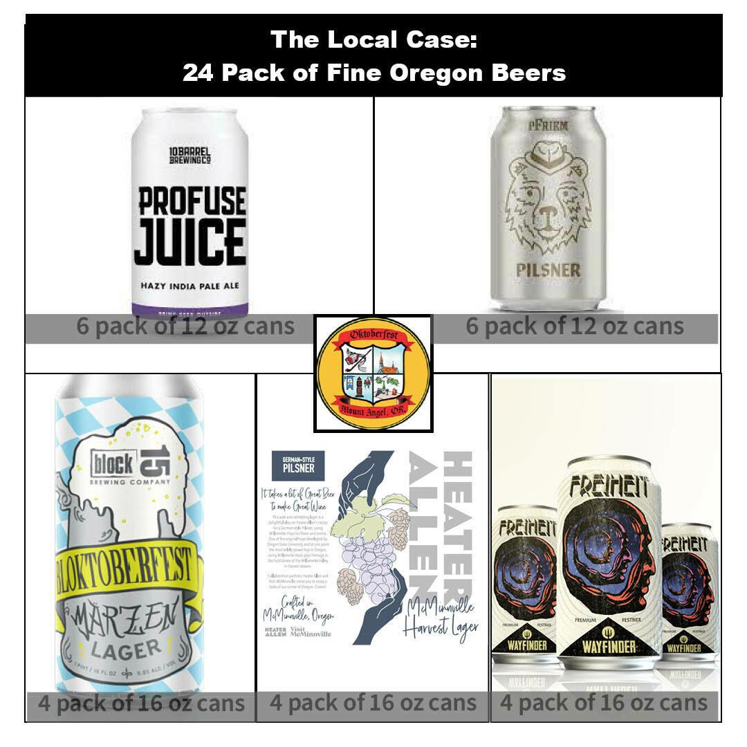 Oregon Locals - 24 pack of locally brewed favorites + 2 Steins