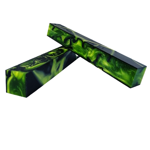 TOXIC GREEN GPS M Series Acrylic (Kirinite) pen blank