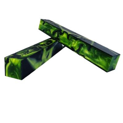 TOXIC GREEN GPS M Series Acrylic (Kirinite) pen blank