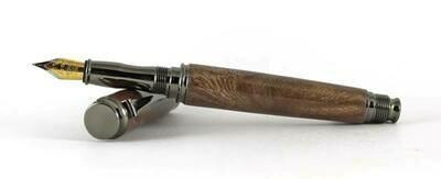 Omega Gun Metal fountain pen Kit