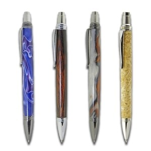 6 x Blade Button Click Ballpoint Pen Kit bundle deal ( only one bundle available)