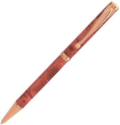 8 x Copper plated Kit funline/slimline twist pen bundle deal.