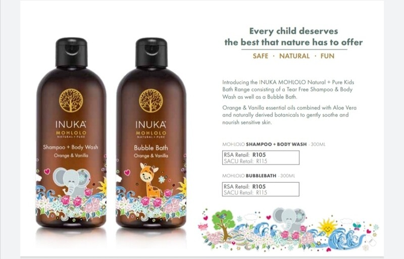 INUKA MOHLOLO NATURAL + PURE KIDS BATH RANGE