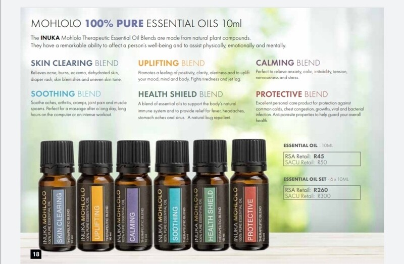 MOHLOLO 100% PURE ESSENTIALS OILS