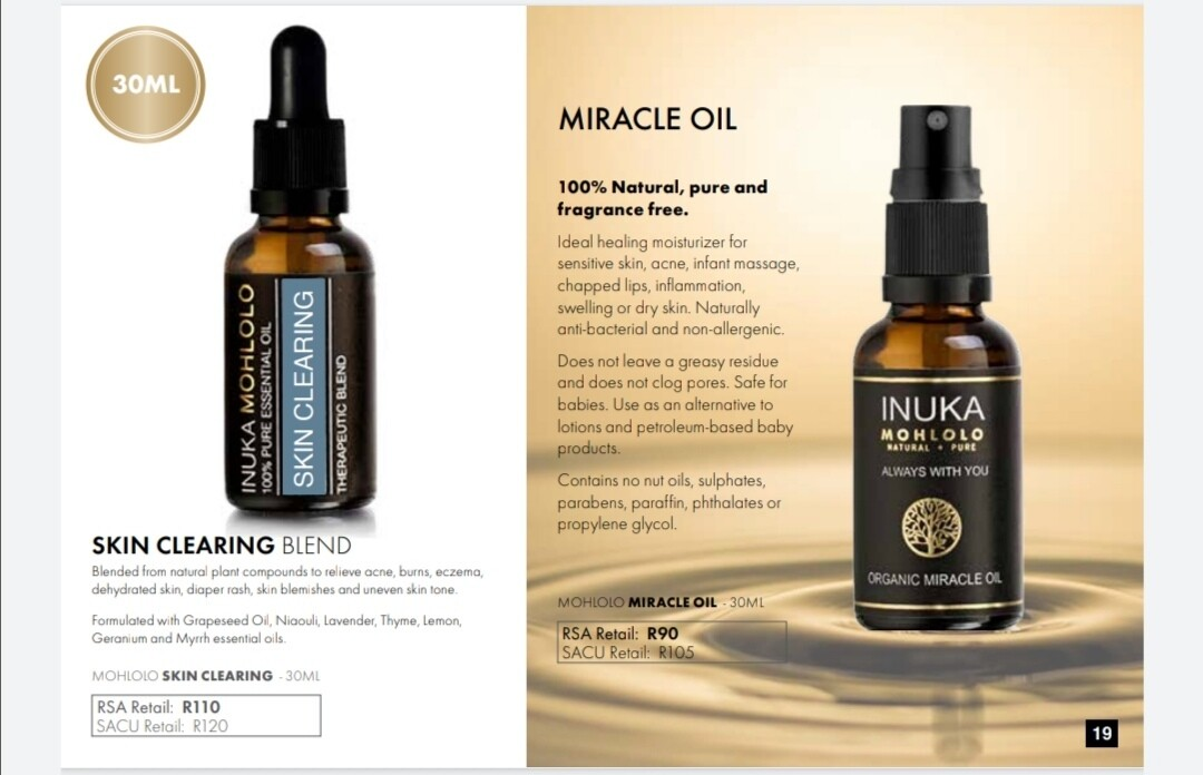MOHLOLO SKIN CLEARING OILS BLEND