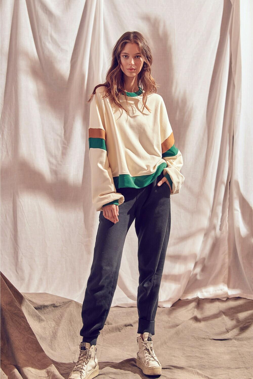Color Block Sweatshirt- JT2834