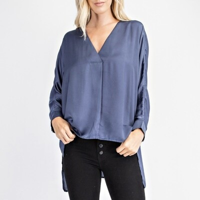 Split V-Neck Top (2) - GT1196-A