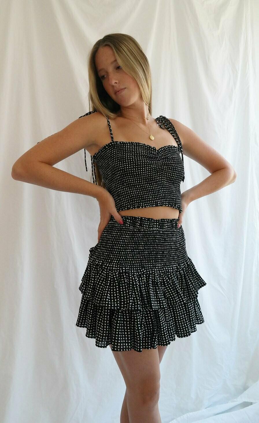 Polka-Dot Ruffle Skirt - JS209G