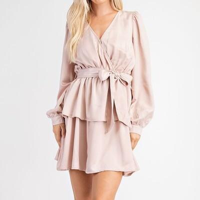 Blush Double Layered Dress- GD2074