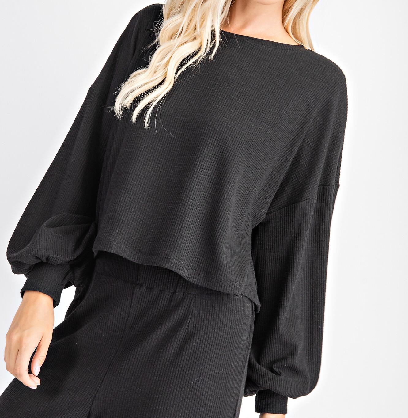 Rib Knit Pullover Sweater - GT2056