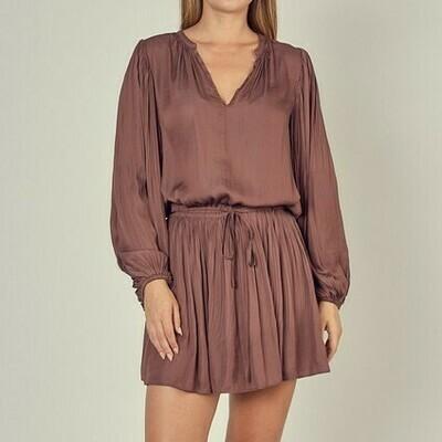 Pleated Drop Waist Dress - S17027