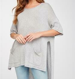 High Low Oversize Knit Top - LV20669