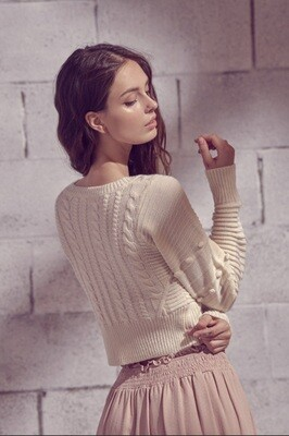 *Ribbed Knit Cropped Sweater- JT2779