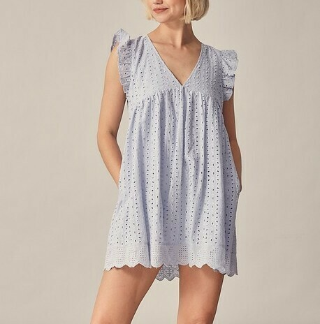 *Embroidered Lace Romper - S14476C