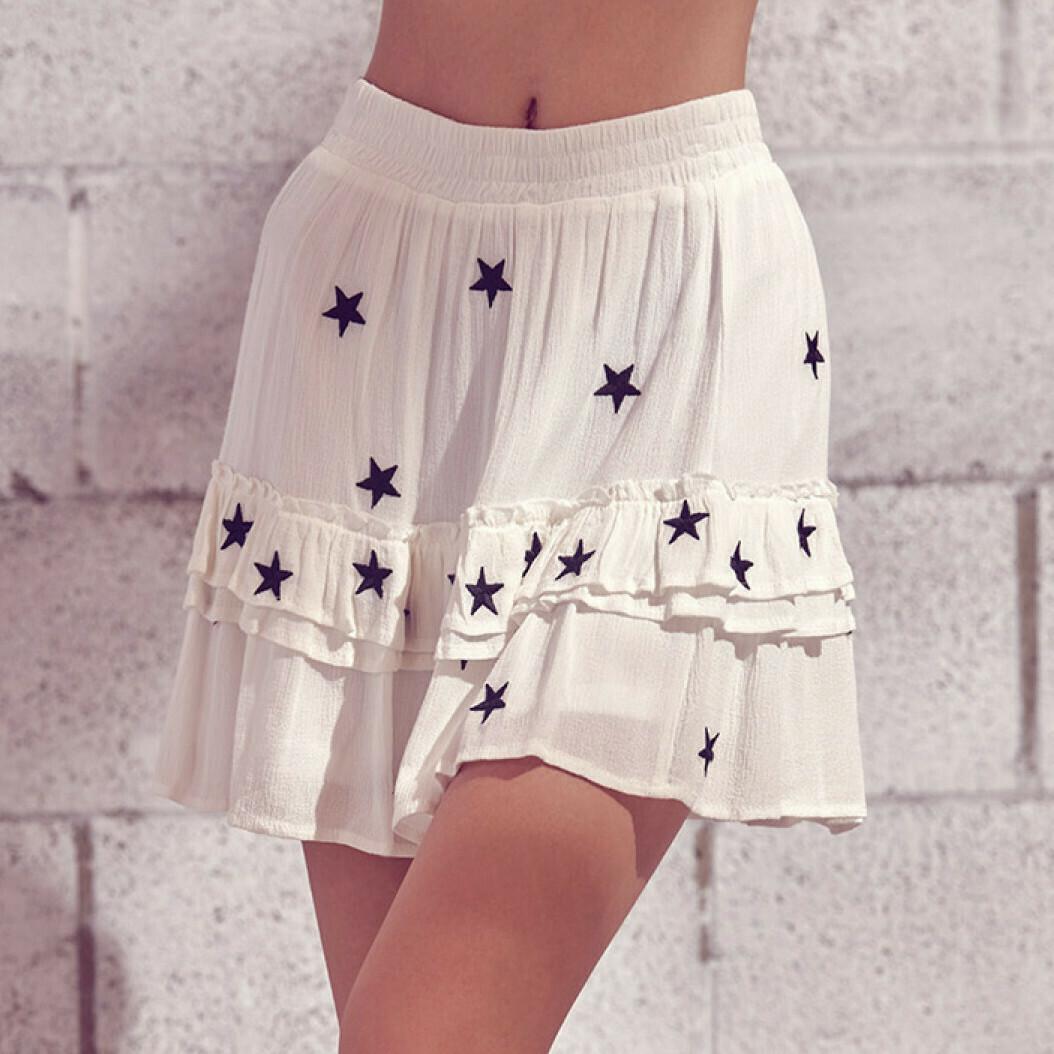 *White and Black Star Skirt - JS2366A