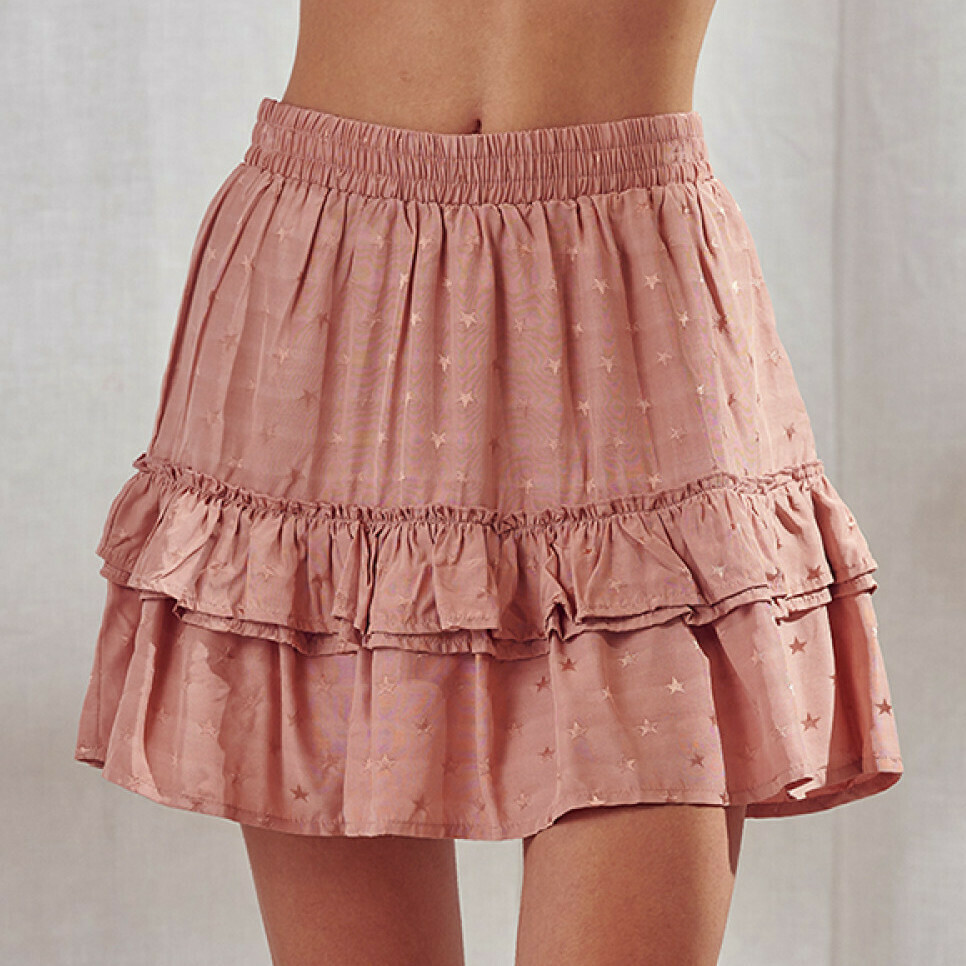 *Scattered Embroidered Star Skirt - JS2635F