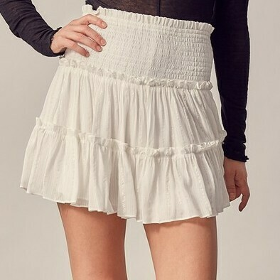 *Metallic Stripe Ruffle Skirt - S17469