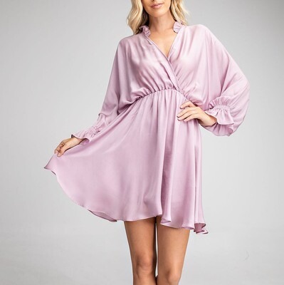 *Ruffle Surplice Baby Bell Sleeves - GD1213