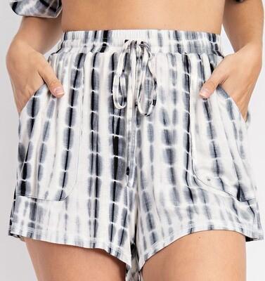 *Tie Dye Print Shorts - GP2291*