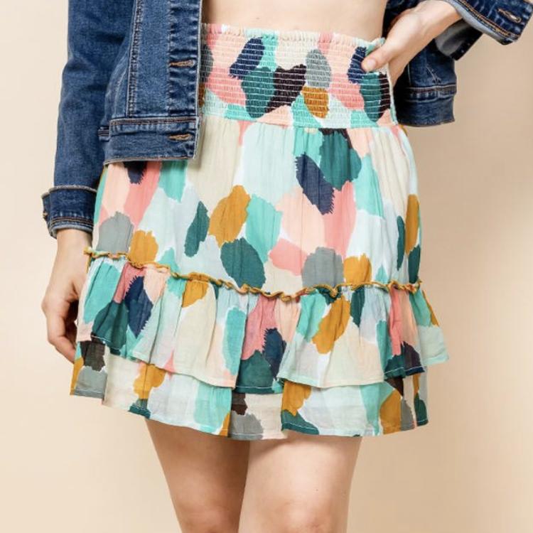 *Mixed Color Ruffle Skirt - SRT0753