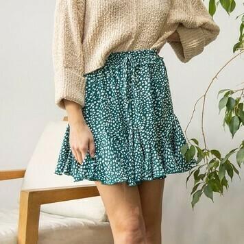 *Printed Frill Mini Skirt - SK841