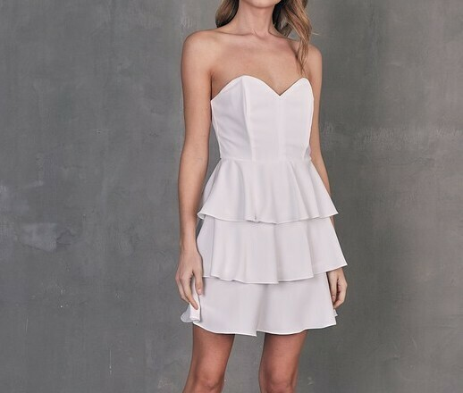 *Off Shoulder Ruffle Dress - GY0596