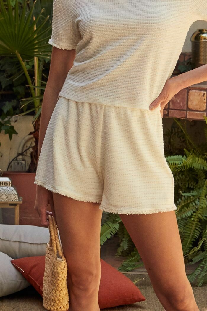 *Celine Boucle Shorts - AC171225