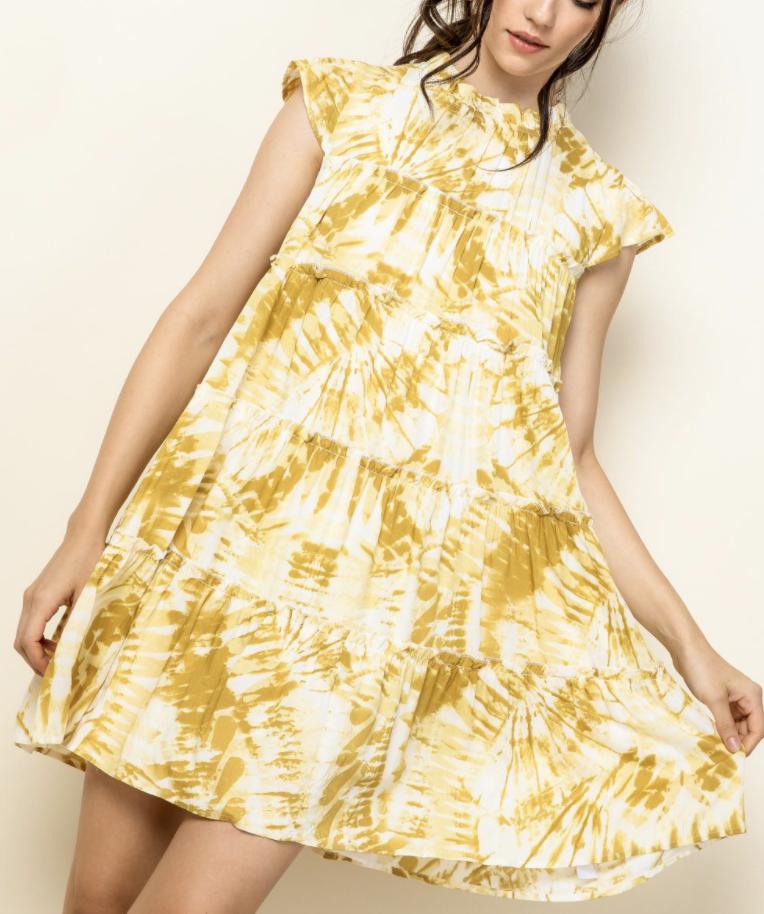 *Tie Dye Tiered Dress - FTM1851